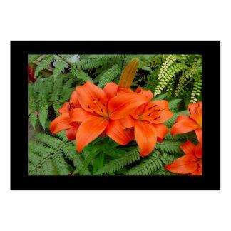 Flor del lirio - naranja iridiscente (Matt 28-30) Plantilla De Tarjeta De Visita