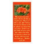 Flor del lirio - naranja iridiscente (Matt 28-30) Diseño De Tarjeta Publicitaria
