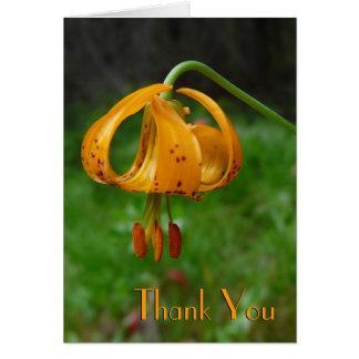 Flor del lirio tigrado del naranja salvaje tarjeta de felicitación