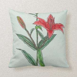 Flor del lirio tigrado del rojo anaranjado en cojines