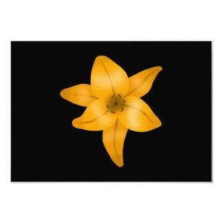 """Flor del lirio tigrado en negro invitación 3.5"""" x 5"""""""