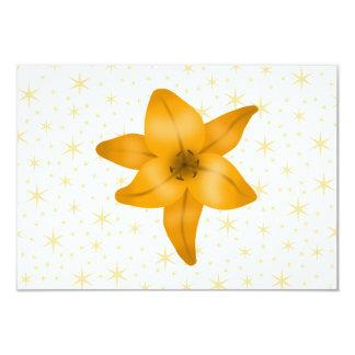 """Flor del lirio tigrado invitación 3.5"""" x 5"""""""