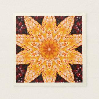 Flor del maíz del otoño servilletas de papel