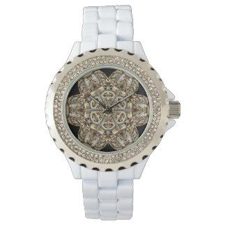 Flor del mecanismo relojes de pulsera