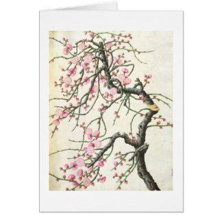 Flor del melocotón (color en el papel) tarjetas