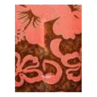 Flor del melocotón del hibisco (impresión de la ha tarjeta postal