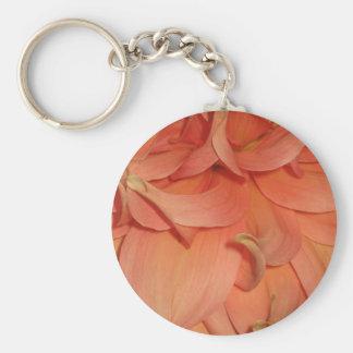 Flor del melocotón llavero redondo tipo pin