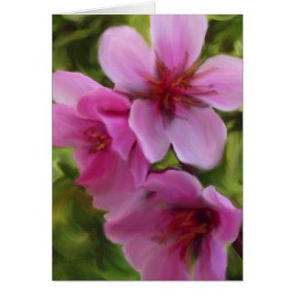flor del melocotón tarjeta de felicitación
