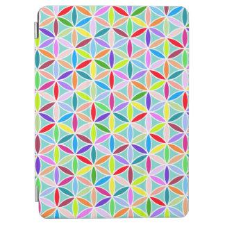 Flor del modelo de la vida - multicolor cover de iPad air
