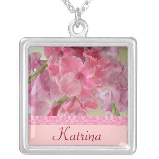 Flor del nacimiento de AGOSTO - collar de Gladiola