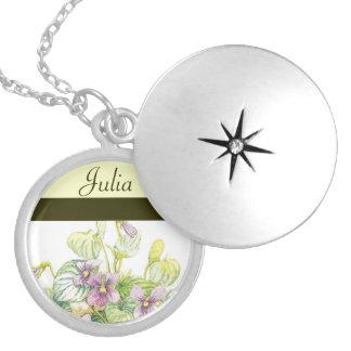Flor del nacimiento de FEBRERO - Locket de las vio Medallones