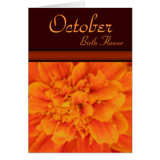 Flor del nacimiento de octubre - tarjeta de nota d