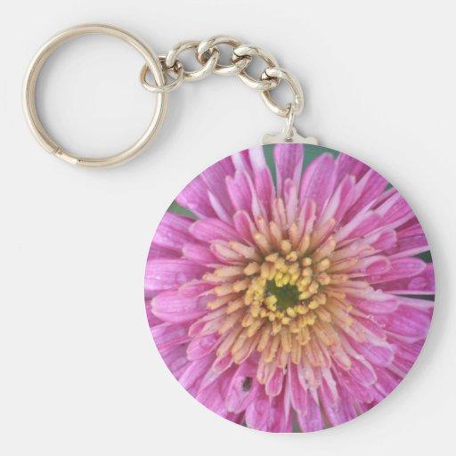 Flor del nacimiento - noviembre - crisantemo llavero redondo tipo pin