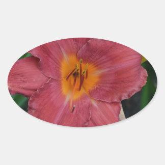 Flor del nacional de Kazajistán Pegatina Ovalada