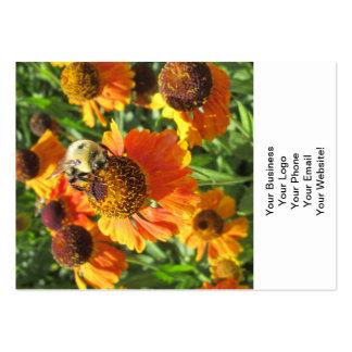 Flor del naranja de la abeja del Helenium Tarjetas De Visita Grandes