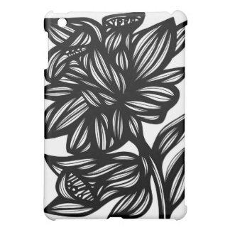 Flor del narciso blanco y negro