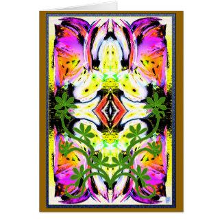 flor del nimue tarjeta de felicitación