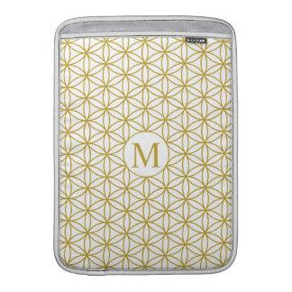 Flor del oro de Ptn de la vida (personalizado) - Fundas MacBook