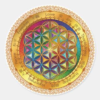 Flor del pegatina de la vida - diseño ORIGINAL por