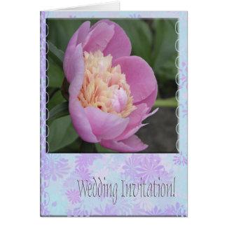 Flor del Peony de la invitación del boda Tarjeta Pequeña