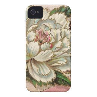 Flor del Peony del vintage iPhone 4 Case-Mate Carcasas