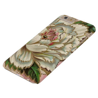 Flor del Peony del vintage Funda De iPhone 6 Plus Barely There