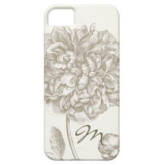 Flor del Peony en las sombras del blanco, cones mo iPhone 5 Case-Mate Cárcasas