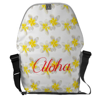 Flor del Plumeria de Hawaii de la bahía de Hanauma Bolsas Messenger