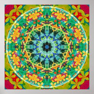 Flor del poster de la mandala 10 de la vida