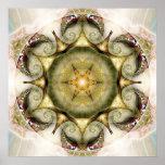 Flor del poster de la mandala 19 de la vida