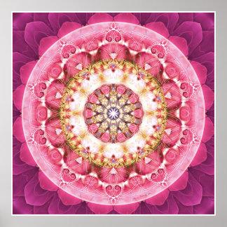 Flor del poster de la mandala 5 de la vida