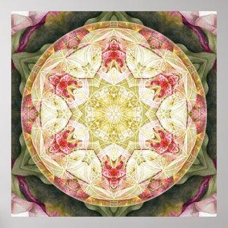 Flor del poster de la mandala 6 de la vida