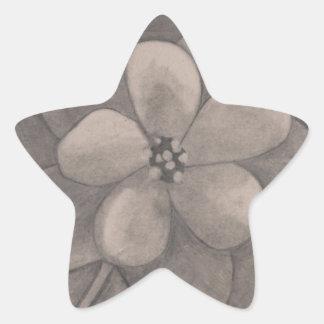 Flor del primero de mayo (dibujo) pegatina en forma de estrella