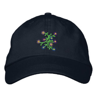 Flor del punto gorra de béisbol