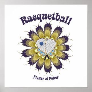 Flor del Racquetball del poder Posters