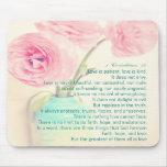 flor del ranúnculo de los Corinthians 13 del amor  Tapete De Raton