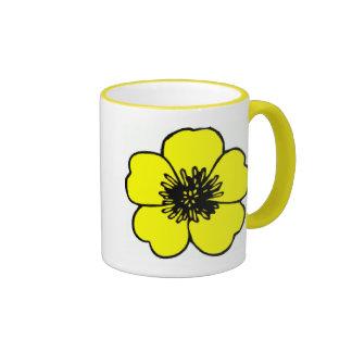 Flor del ranúnculo tazas