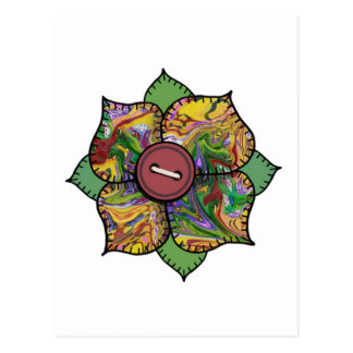 Flor del remiendo - 012 tarjeta postal