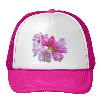 Flor del rododendro gorros bordados