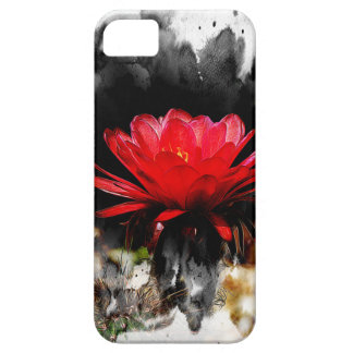Flor del rojo del cactus de la antorcha iPhone 5 carcasa