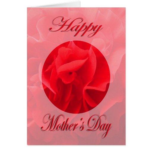 Flor del rojo del clavel del día de madre felicitaciones