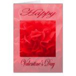 Flor del rojo del clavel del día de San Valentín Felicitación