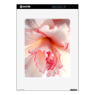 Flor del rosa bebé y blanco del rosa calcomanías para iPad