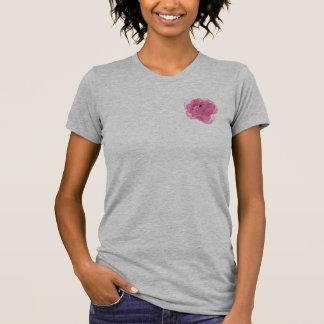 Flor del rosa del caramelo de algodón camisetas