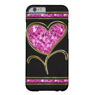 Flor del rosa del diamante y del corazón del oro