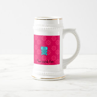 Flor del rosa del elefante del brillo de la turque jarra de cerveza