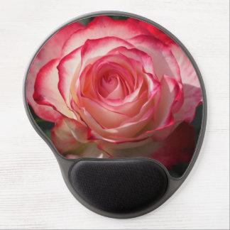 Flor del rosa rojo alfombrillas de ratón con gel