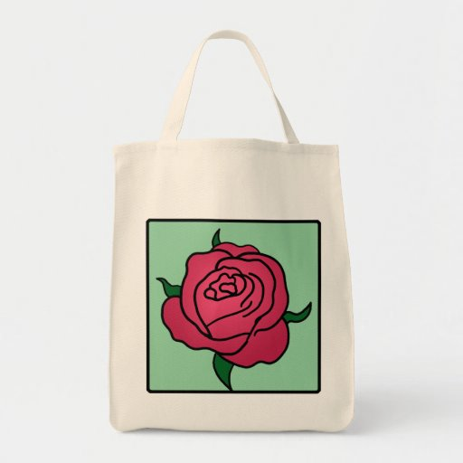 Flor del rosa rojo del el día de San Valentín del Bolsa Tela Para La Compra