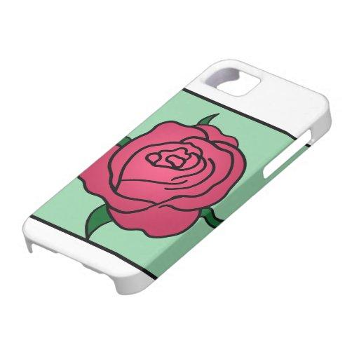 Flor del rosa rojo del el día de San Valentín del iPhone 5 Fundas