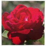 Flor del rosa rojo servilleta de papel